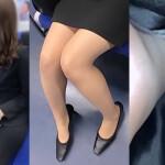 【盗撮OLパンチラ】リクルートスーツに身を包んだ美脚お姉様逆さ撮り!蒸れ気味のストッキングが綺麗な足とパンティにフィット!ビリビリにやぶいて悪戯したい・・・そんな妄想をさせる接写映像。