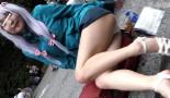 【エロレイヤー接写盗撮】撮影会で合法パンチラ!美女がエロコスでエッチなポーズ!カメコ(カメラ小僧)が限界までレイヤーさんに接近。もっこりパンツを接写→生脚を舐めるように撮影!